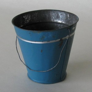 Blue Tin Bucket - collectable and decorative item