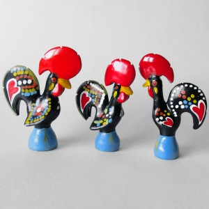3 Miniature Barcelos Roosters