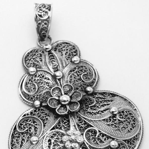 Silver filigree pendant alma nostra silver filigree pendant aloadofball Image collections
