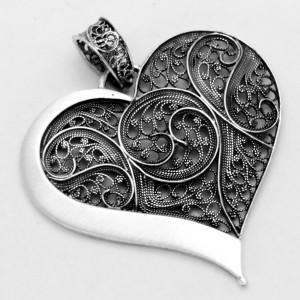 Pendente de filigrana em prata