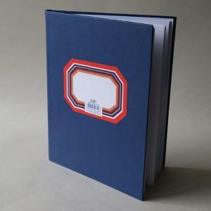 Libro Azul Mediano de Firmo