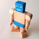 Articulated wooden robot