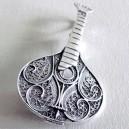 Silver Filigree Pendant / Brooch