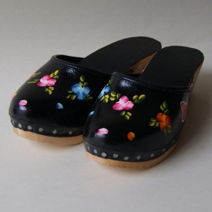 Painted clogs