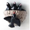 Ninho de Andorinhas em Cerâmica