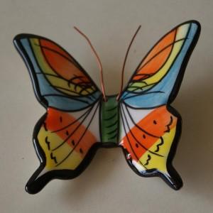 5 Borboletas de cerâmica pintadas à mão