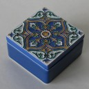 Medium ceramic box with tile lid