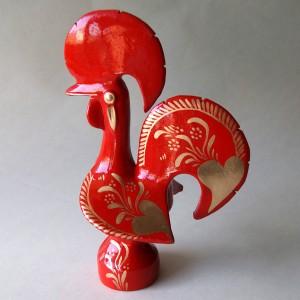 Gallo de Barcelos Rojo y Dorado
